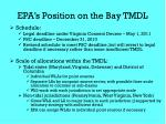 epa s position on the bay tmdl17