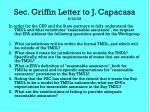 sec griffin letter to j capacasa 8 22 08