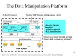 the data manipulation platform