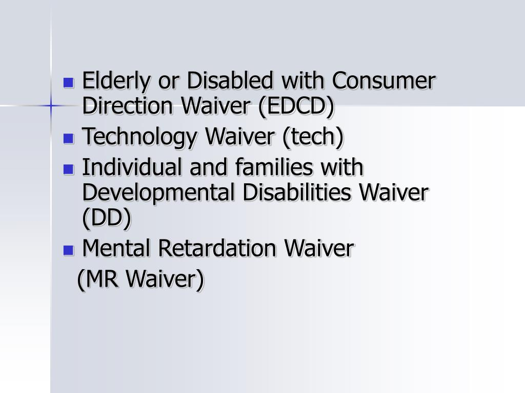 Elderly or Disabled with Consumer Direction Waiver (EDCD)