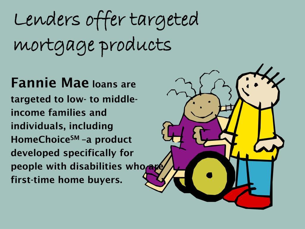 Lenders offer targeted