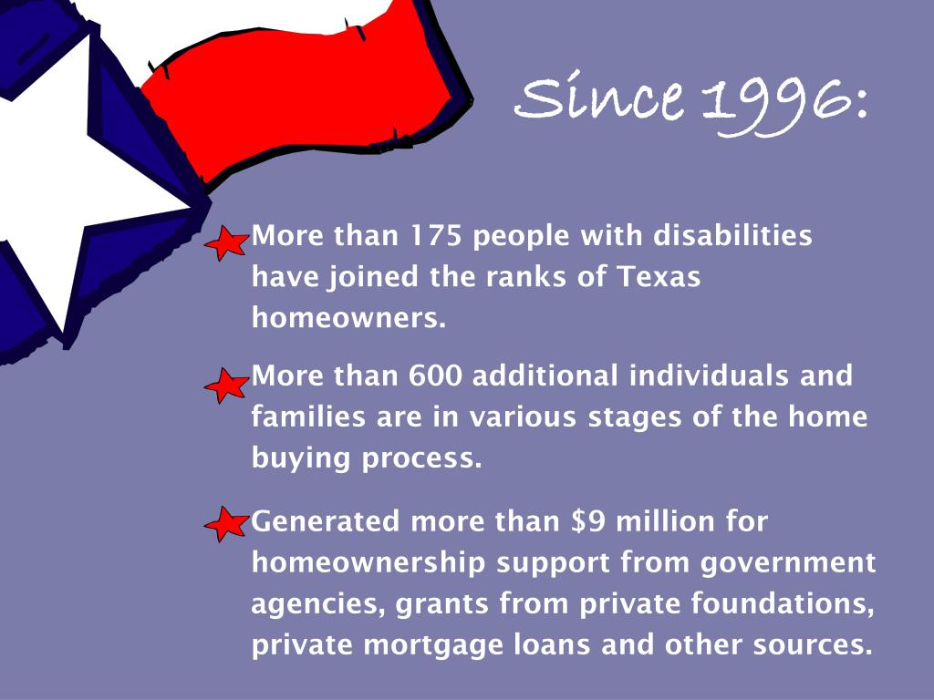 More than 175 people with disabilities have joined the ranks of Texas homeowners.