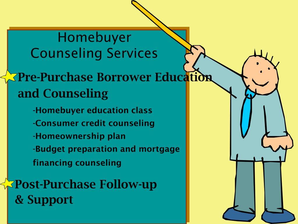 Pre-Purchase Borrower Education