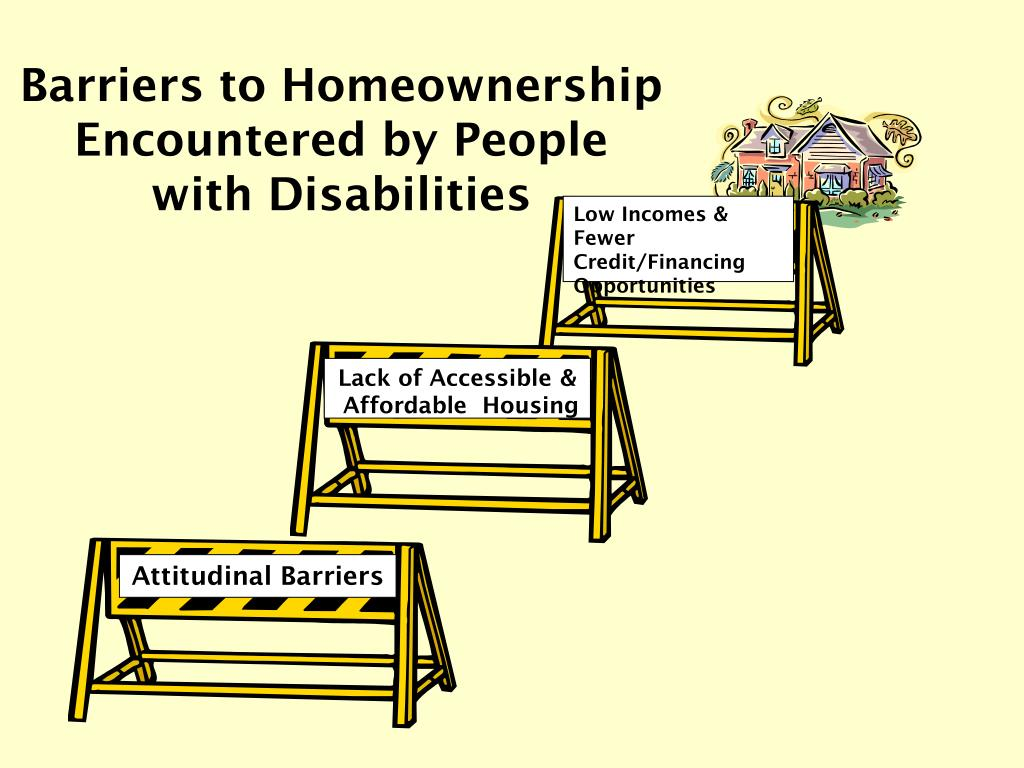 Barriers to Homeownership Encountered by People