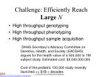 challenge efficiently reach large n