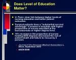 does level of education matter