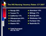 the ihs nursing vacancy rates cy 2007