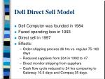 dell direct sell model