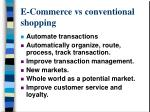 e commerce vs conventional shopping