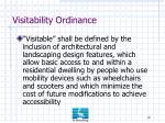 visitability ordinance