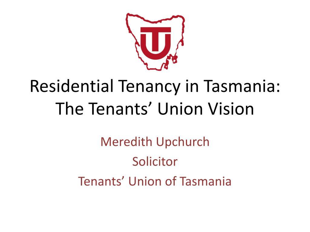 Residential Tenancy in Tasmania: