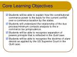 core learning objectives