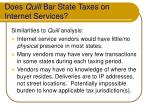 does quill bar state taxes on internet services