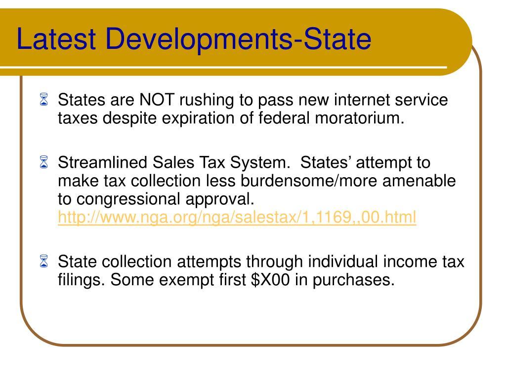 Latest Developments-State