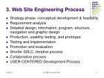3 web site engineering process