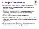 4 project team issues