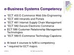 e business systems competency