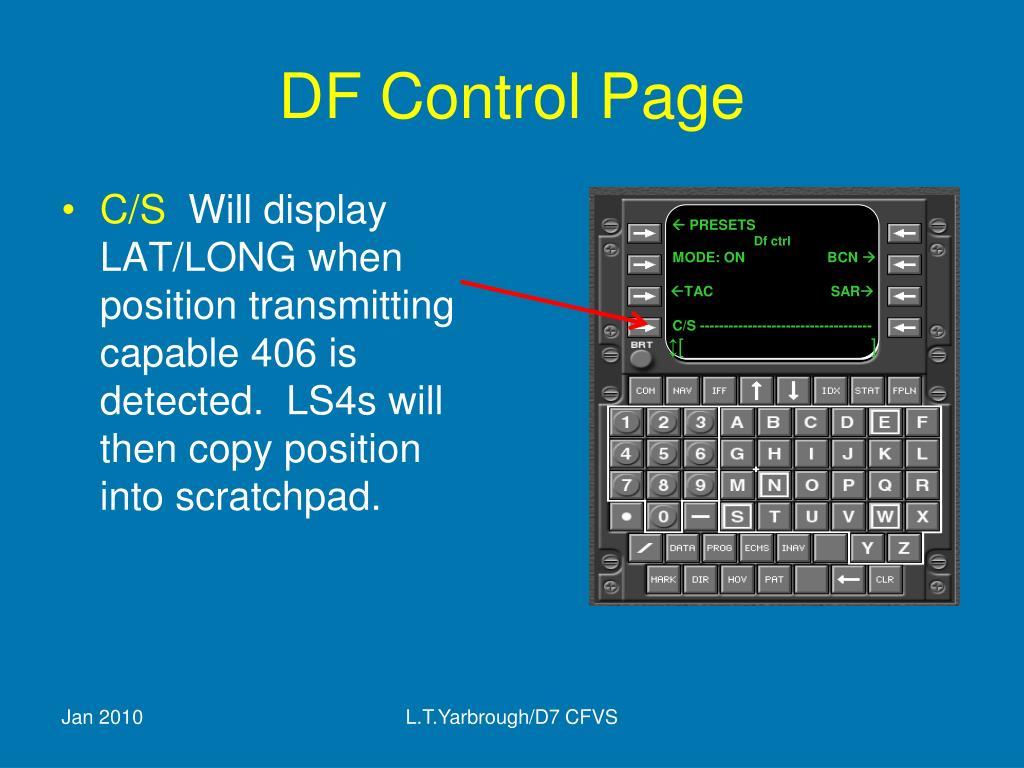 DF Control Page