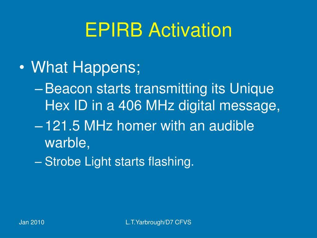 EPIRB Activation