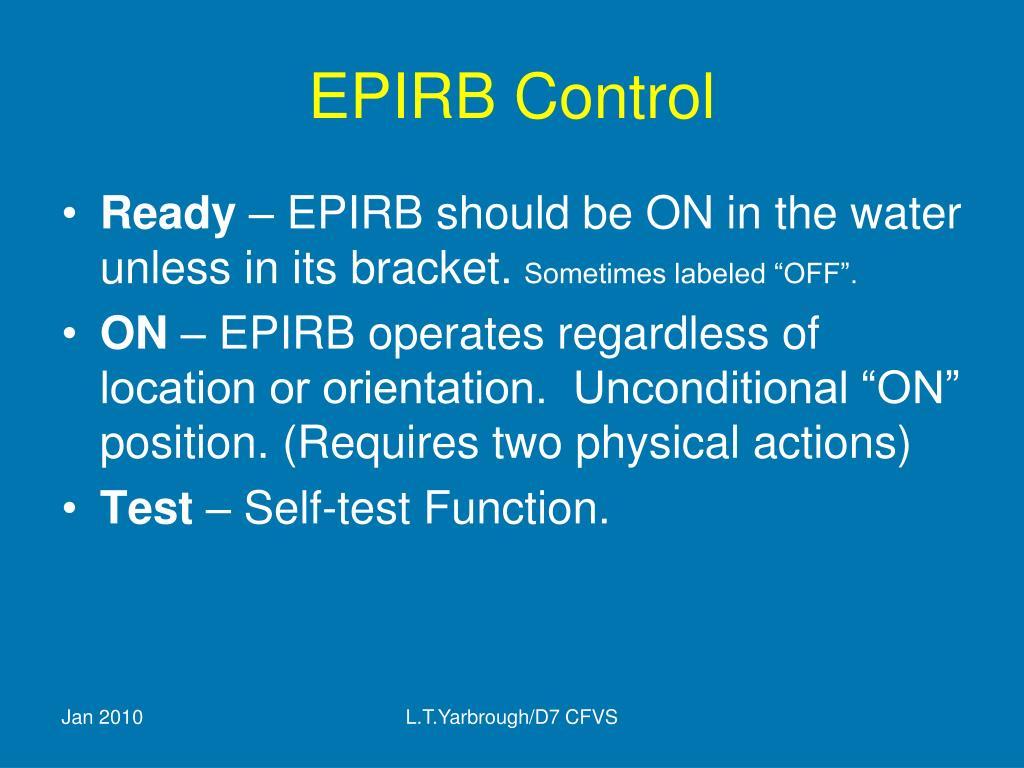EPIRB Control