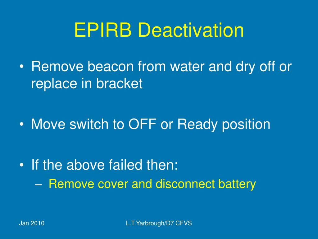 EPIRB Deactivation