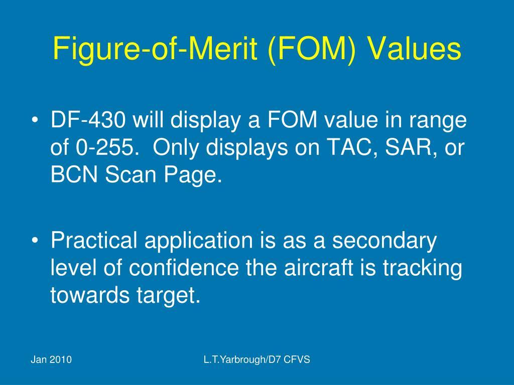 Figure-of-Merit (FOM) Values