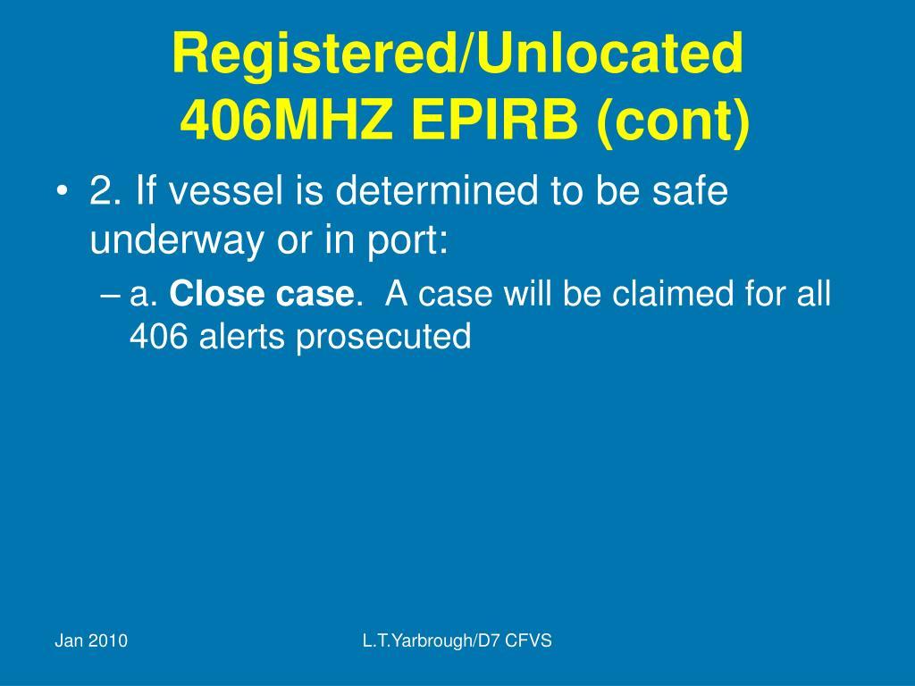 Registered/Unlocated