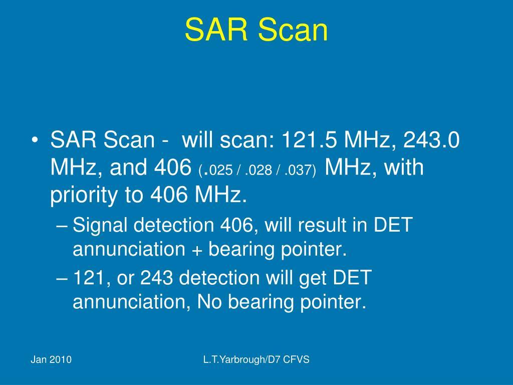 SAR Scan