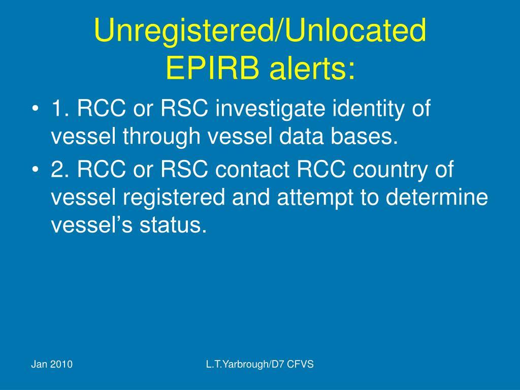 Unregistered/Unlocated