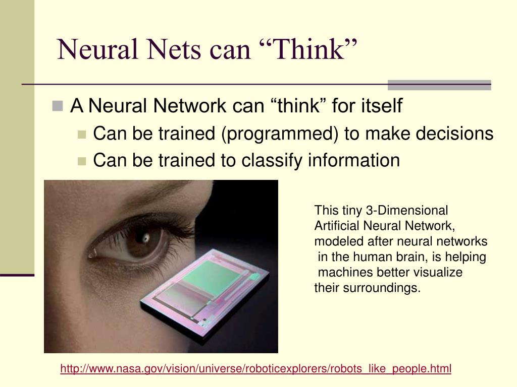 "Neural Nets can ""Think"""