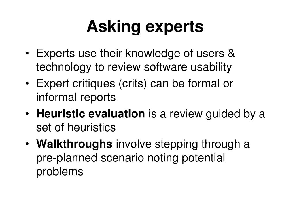 Asking experts