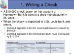 1 writing a check