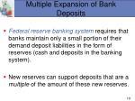 multiple expansion of bank deposits