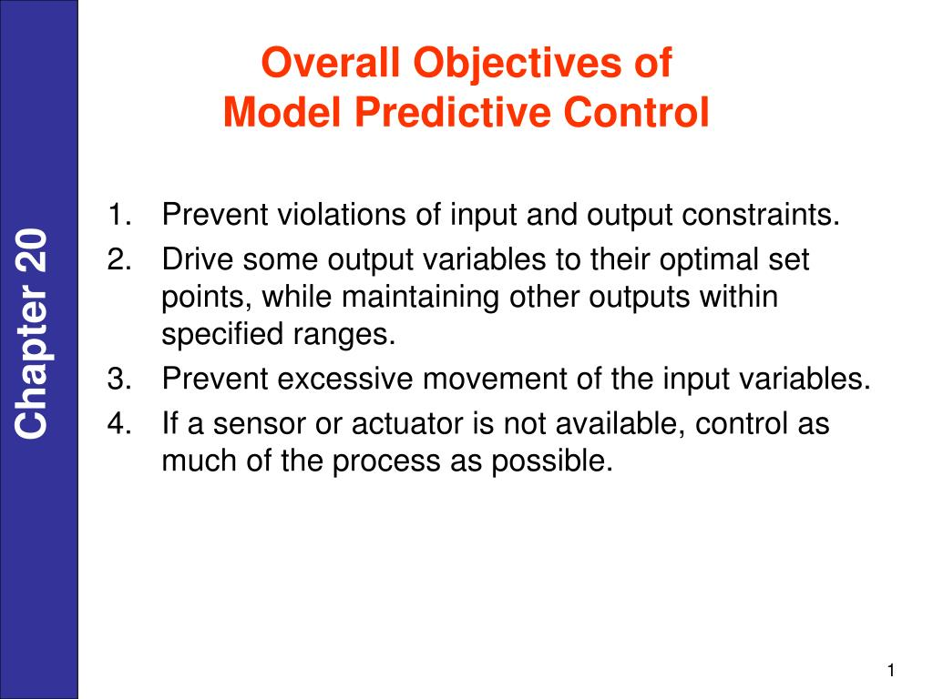 Overall Objectives of