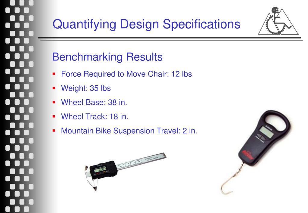 Quantifying Design Specifications