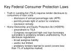 key federal consumer protection laws