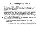 occ preemption cont d
