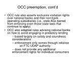 occ preemption cont d2