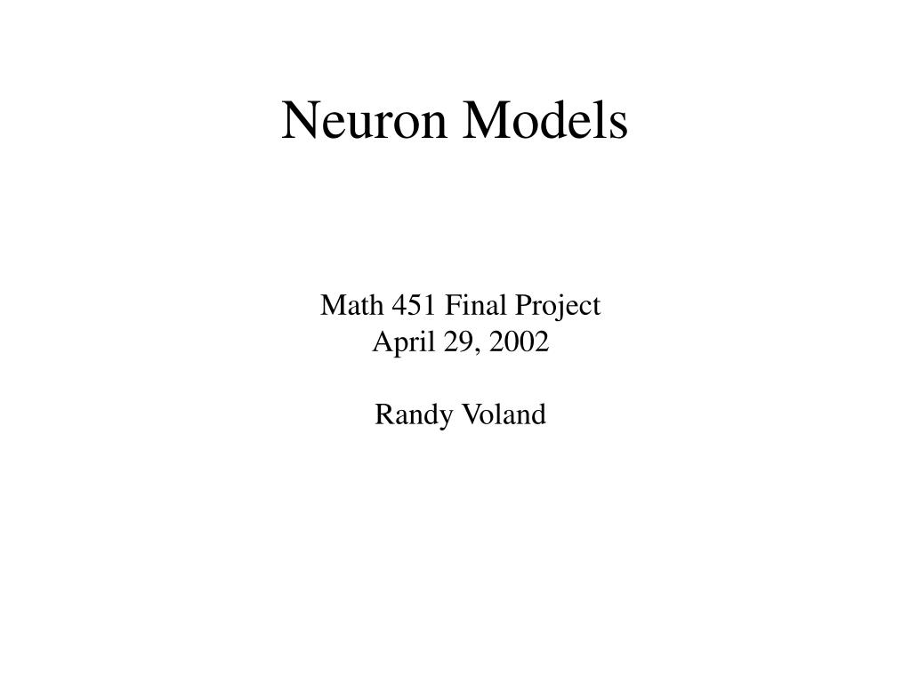 neuron models l.
