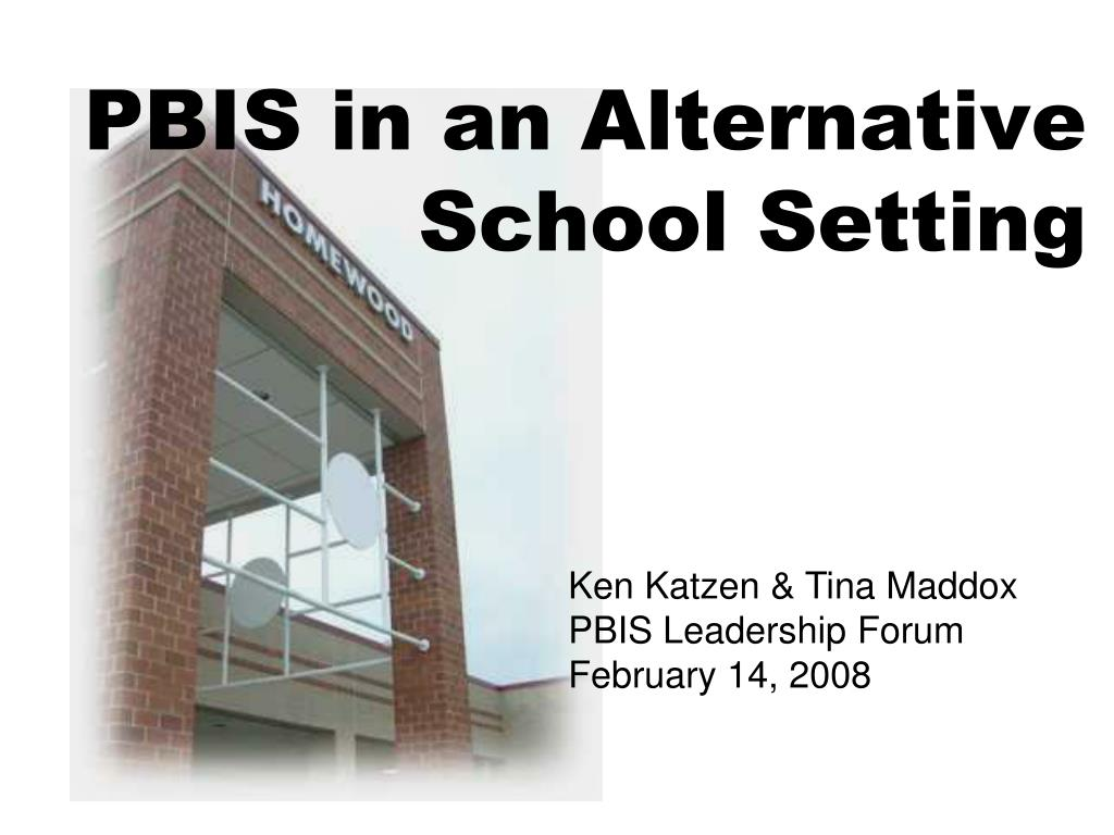 PBIS in an Alternative
