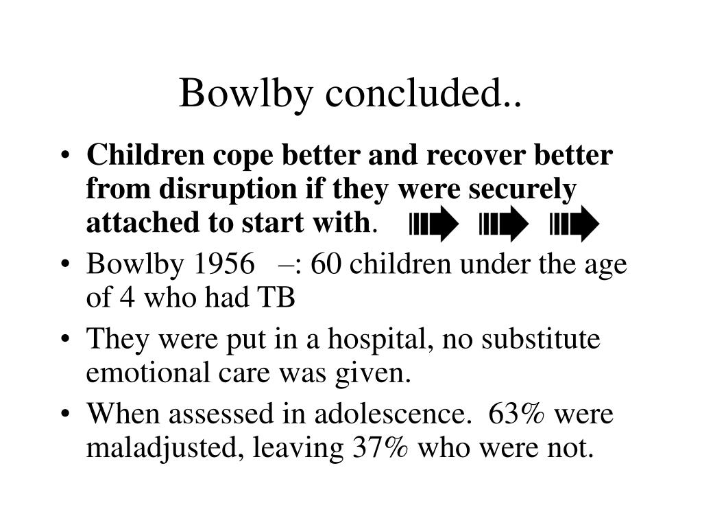 Bowlby concluded..