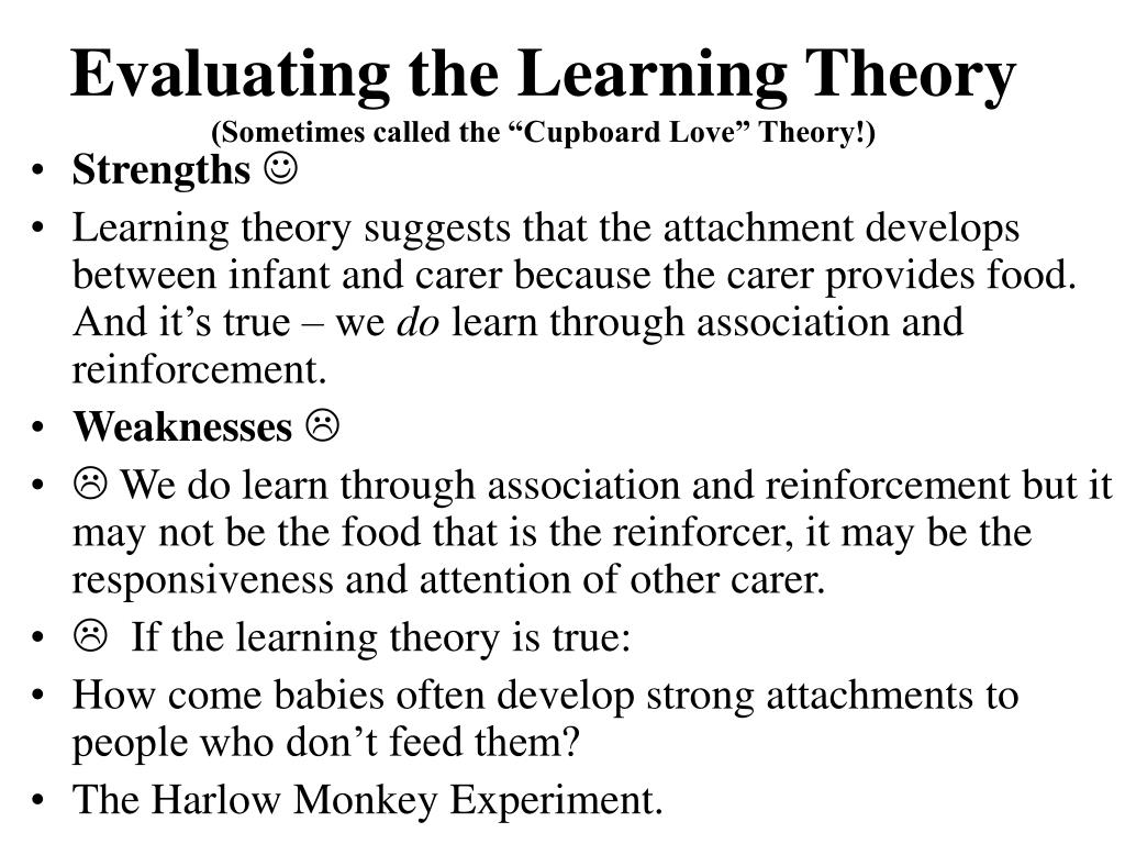 Evaluating the Learning Theory