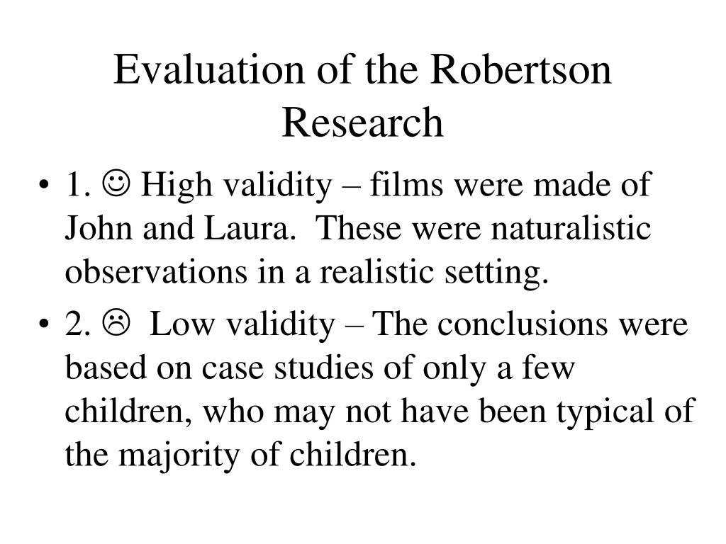 Evaluation of the Robertson Research