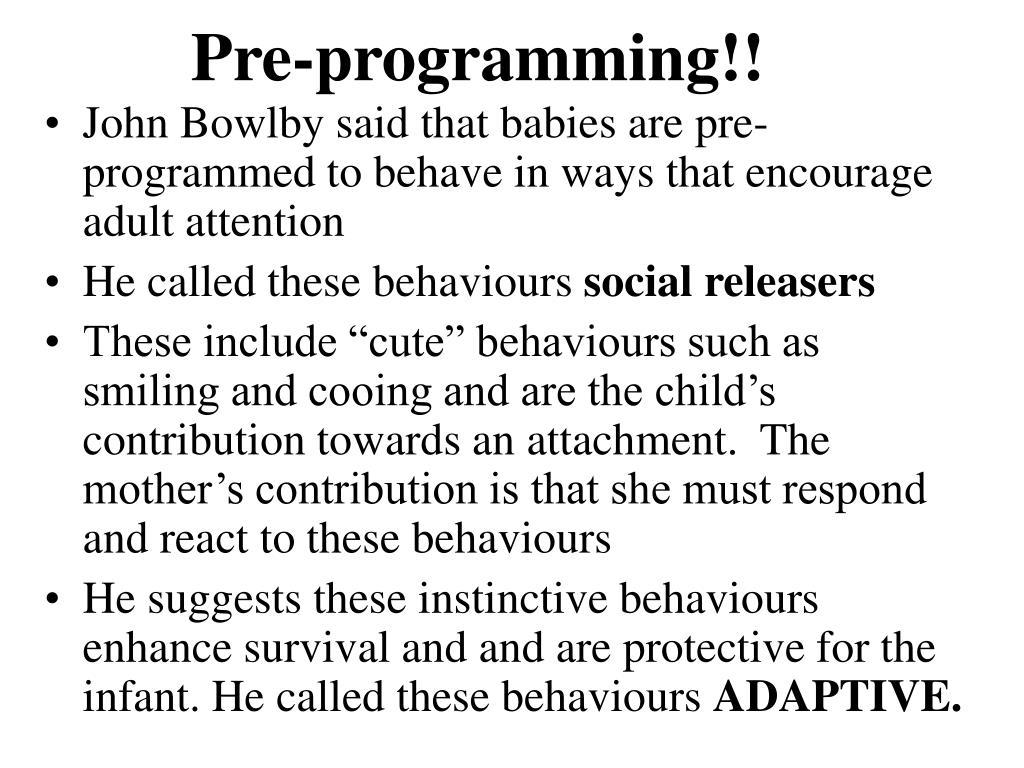 Pre-programming!!