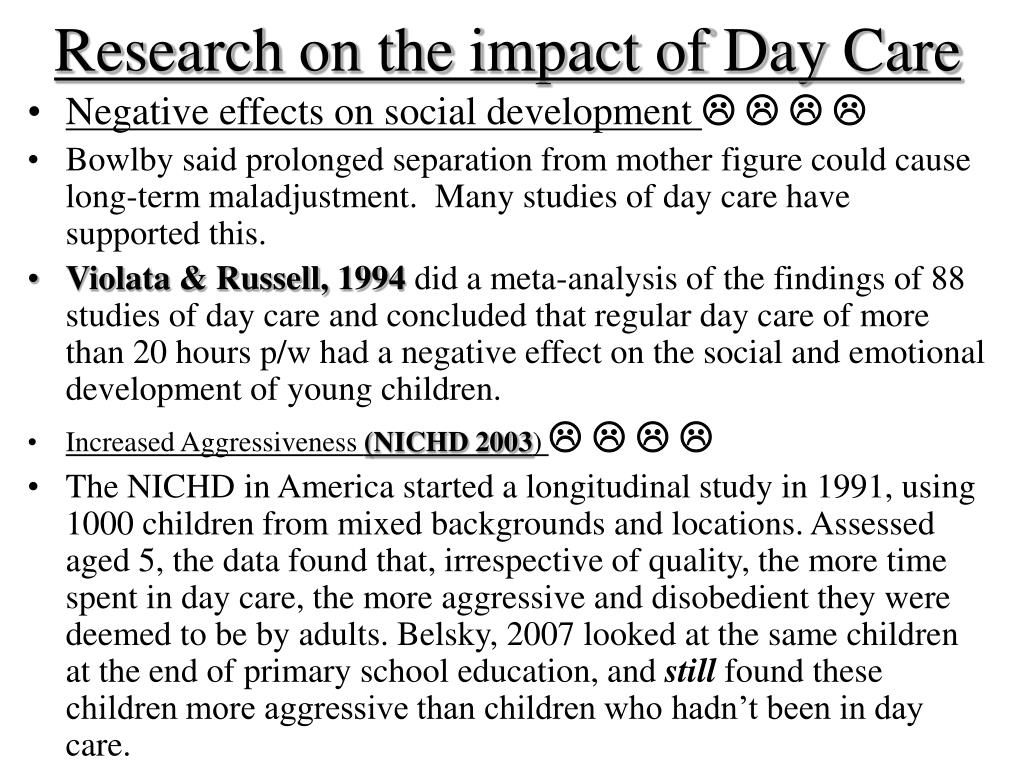 Research on the impact of Day Care