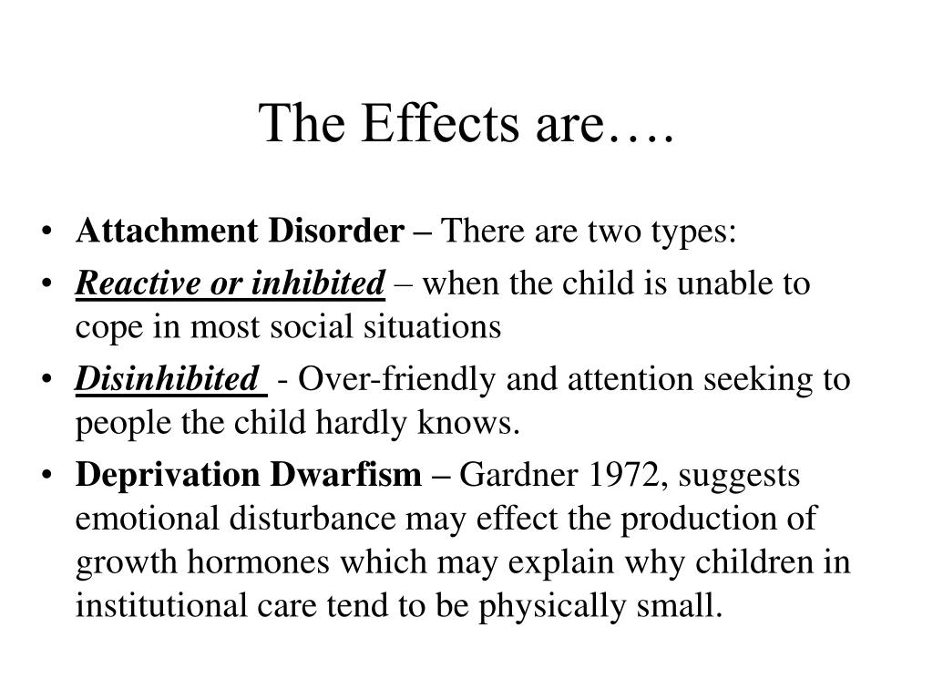 The Effects are….