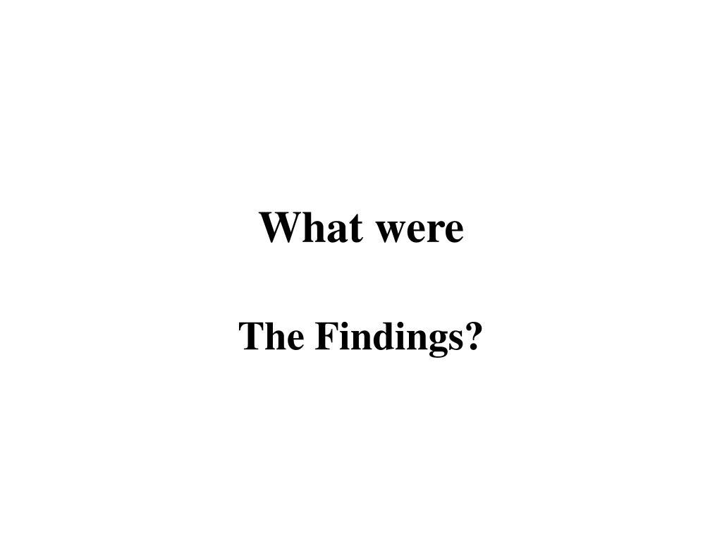 What were