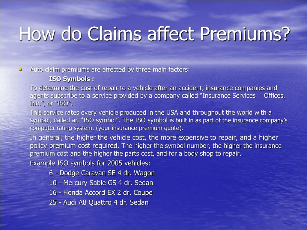 How do Claims affect Premiums?