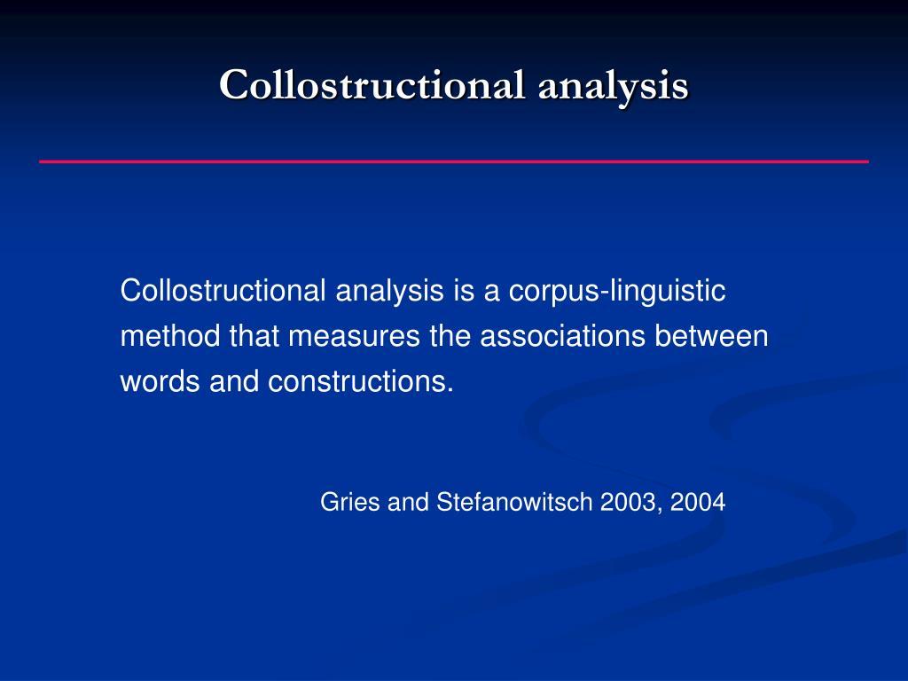 Collostructional analysis