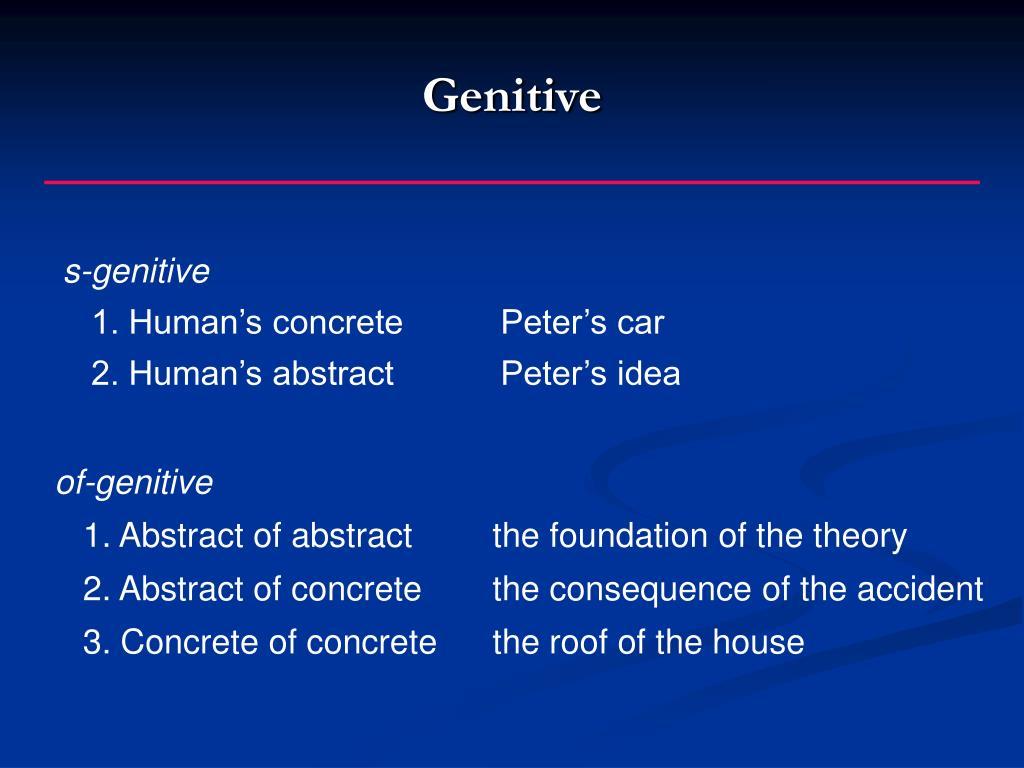 Genitive